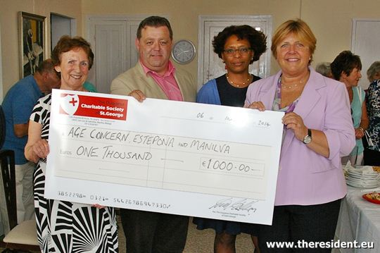 Donation to Age Concern